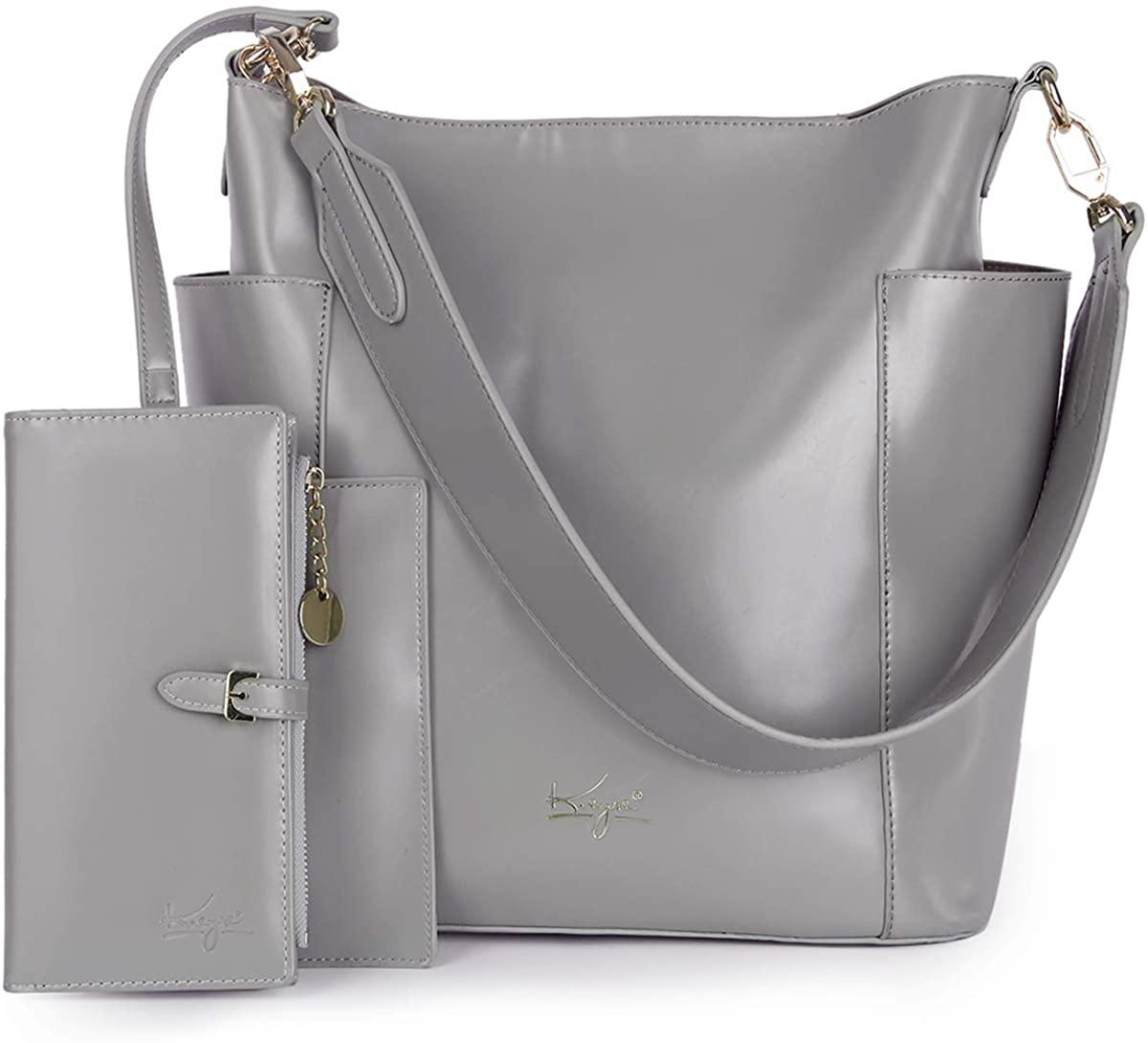 Women Handbag Designer Leather Hobo Handbags Shoulder Bucket Crossbody Purse 4PCs