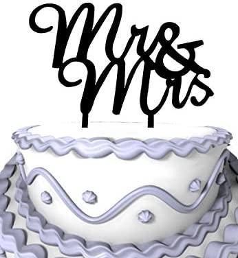 Meijiafei Cursive Mr & Mrs Wedding Acrylic Cake Topper