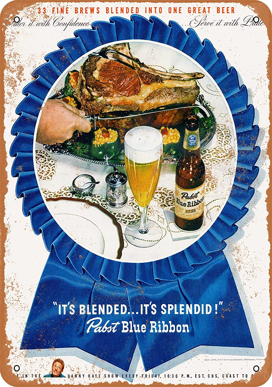Wall-Color 9 x 12 Metal Sign - 1946 Pabst Blue Ribbon Beer - Vintage Look