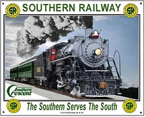 Southern Railway Metal Railroad Train Sign 8