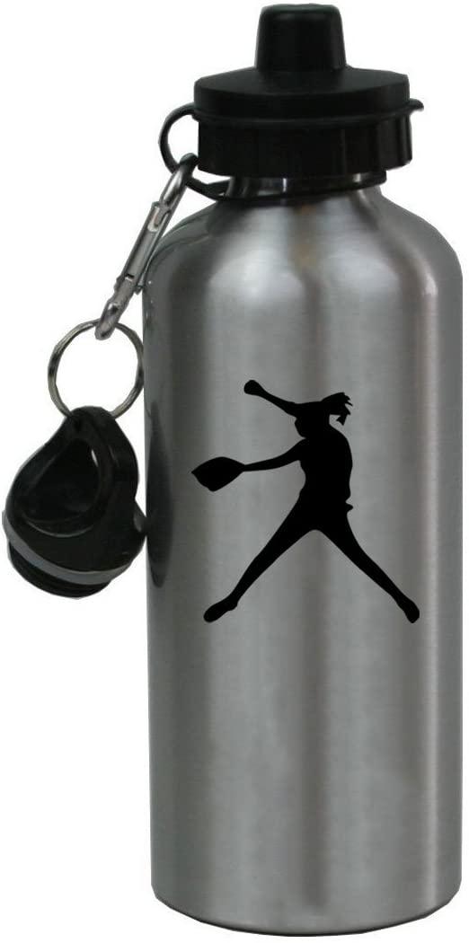 Personalized Custom Softball Pitcher Aluminum Finish 20 Ounce 600ML Sport Water Bottle Customizable