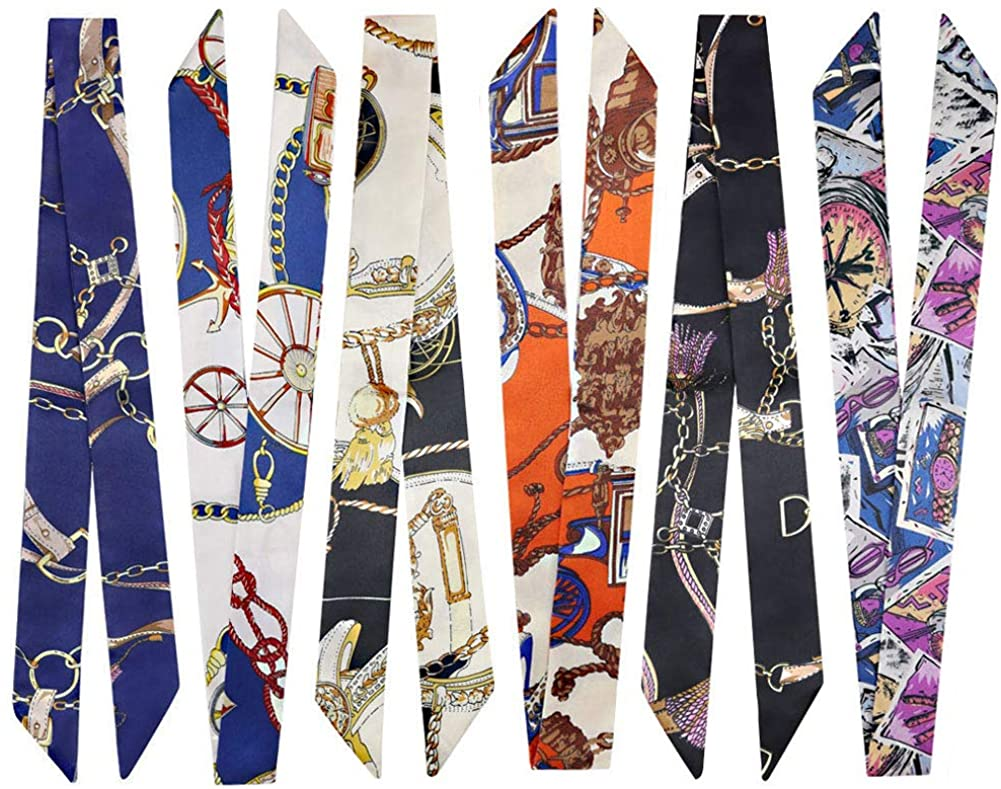 2/6/10Pack Bag Handbag Handle Ribbon Scarf for Package Band Hair Head Band Neck Scarf Bandana Fashion Gifts