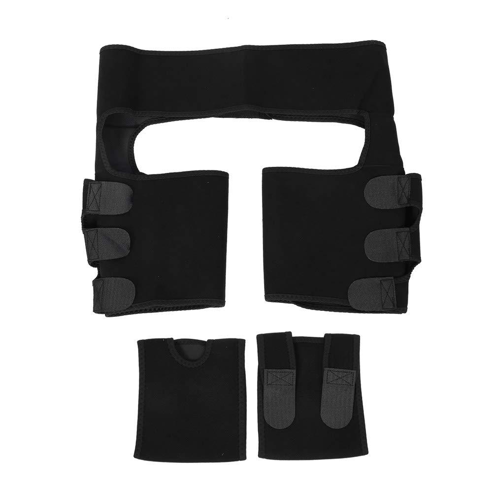 Shaper Waist Trainer for Men Women,3‑In‑1 Slimming Belt Fat Burning Abdomen Hips Leg Trainer Workout Belt with 2pcs Arm Sleeve(S/M)