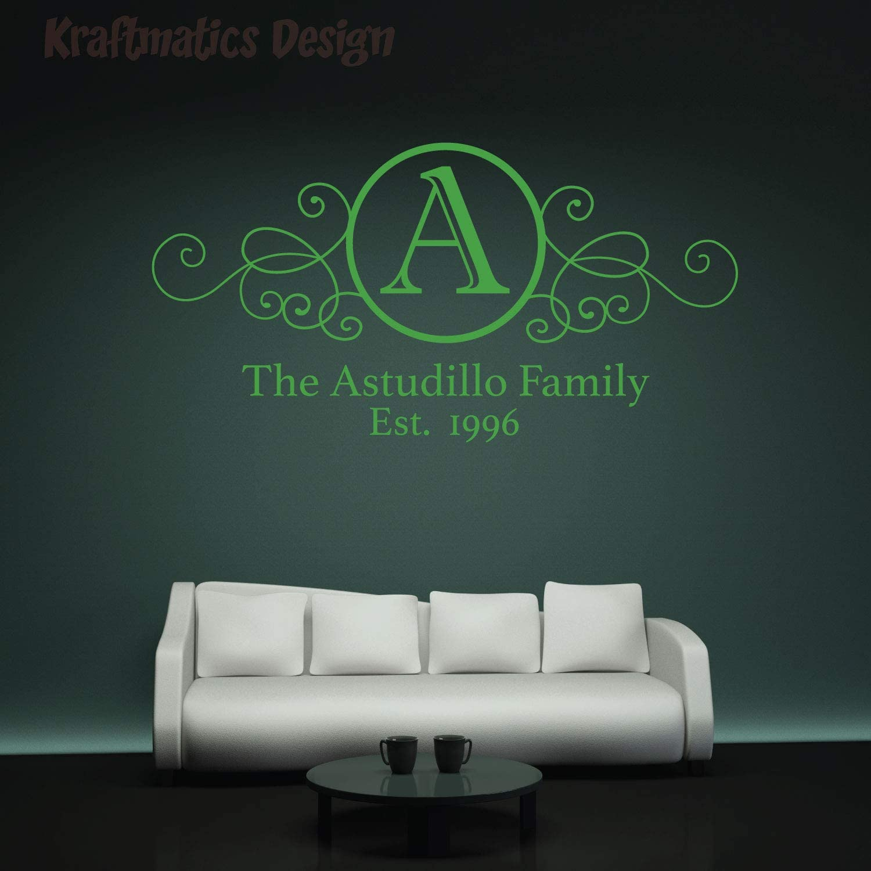 Family Establish Quote Series Wall Decal Vinyl Sticker for Home Decor. by Kraftmatics Design (Small W 23