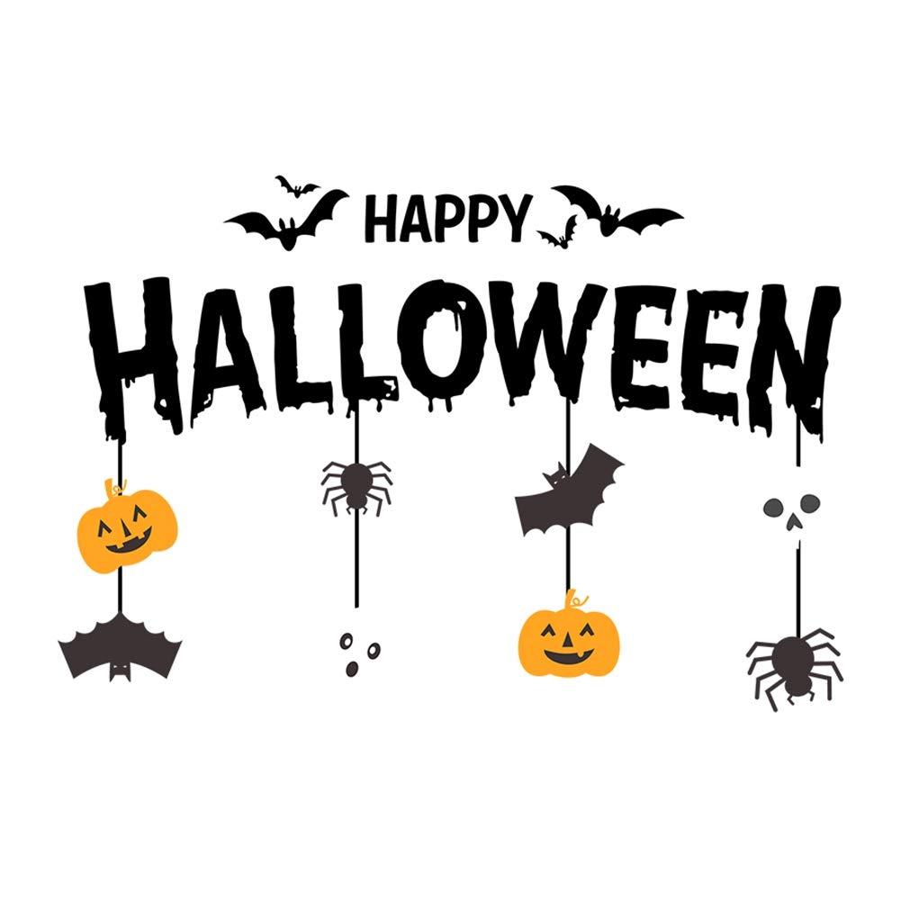 Jemets Glass Sticker Halloween Decoration Props Party Home Decor Halloween Wall Floor Sticker Horror Wall Stickers Wall Window Door