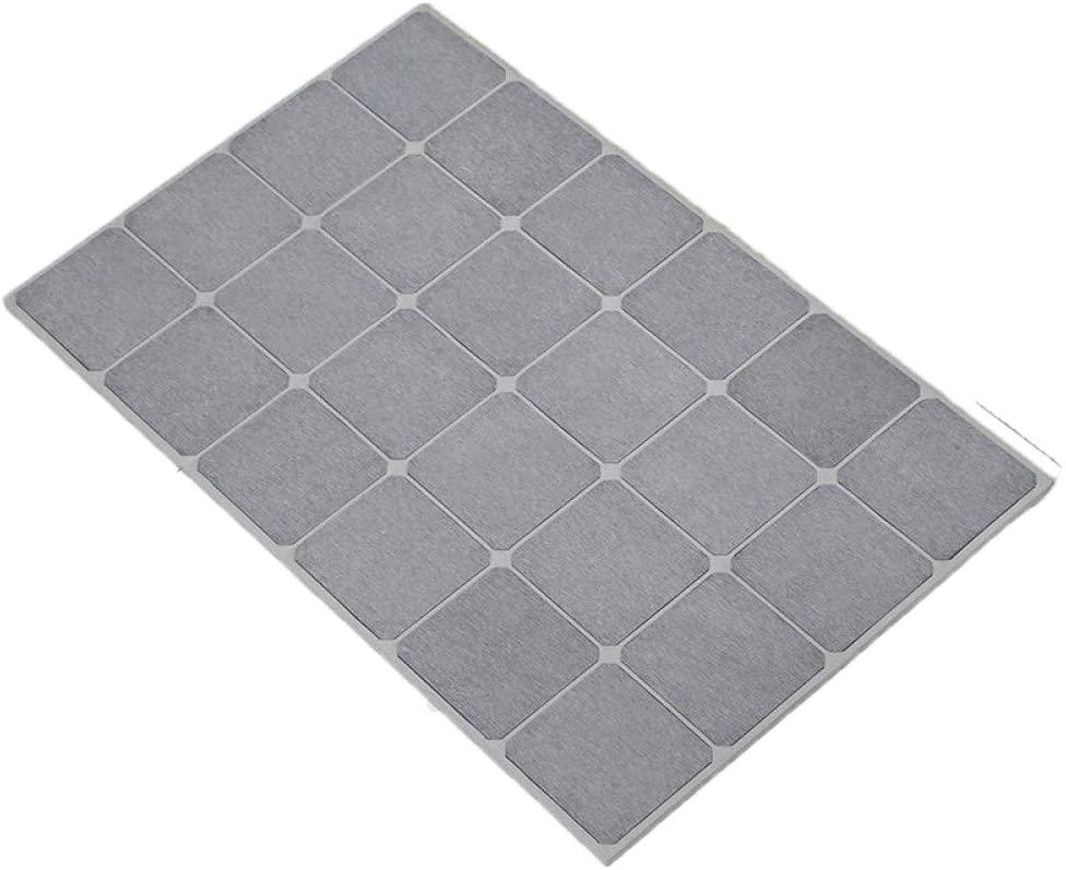 JC WANG DIY Image Diatomite Quick Drying Bath Mat (Gray)