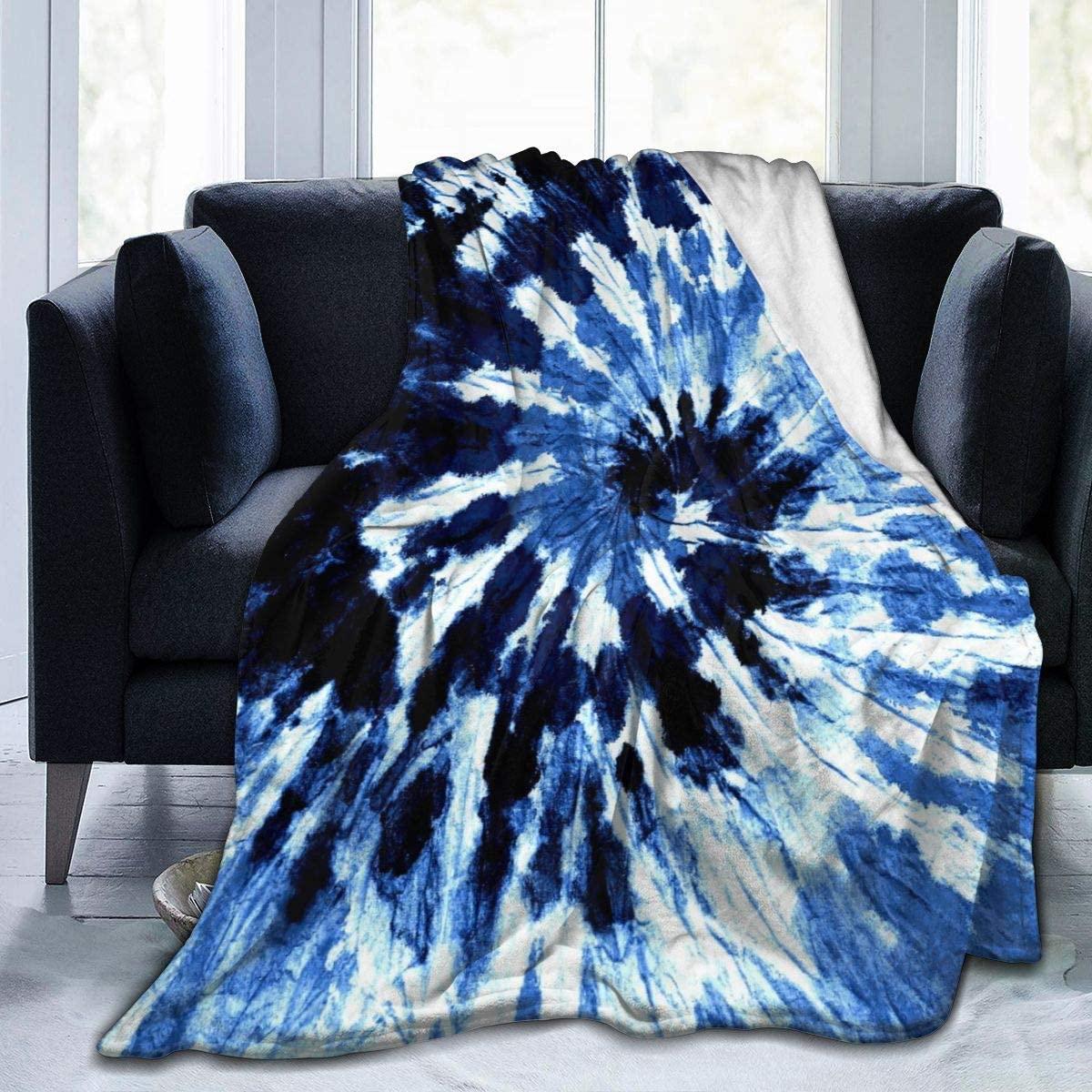 Delerain Tie-Dyed Soft Throw Blanket 40