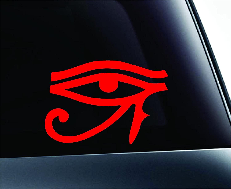 Eye of Ra Egypt Symbol Decal Funny Car Truck Sticker Window (Red)