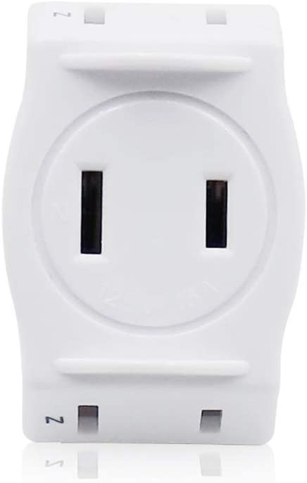 3 Outlet Wall Adapter Extender 2-Prong Ungrounded Plug Indoor AC Mini Plug Wall Tap Power Outlet Plug, 1 Pack
