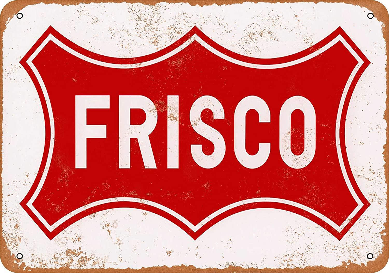 Wall-Color 7 x 10 Metal Sign - Frisco Railroad - Vintage Look
