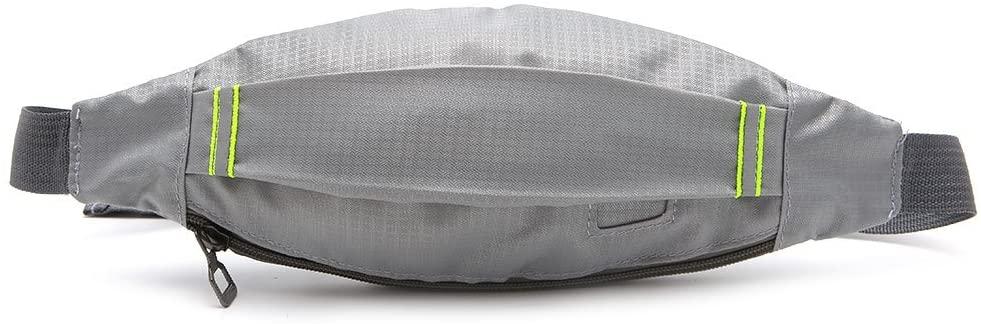 FEIlei Waist Bag, Unisex Sports Running Cycling Jogging Earphone Waist Belt Pack Bag Pouch Pocket- Gray