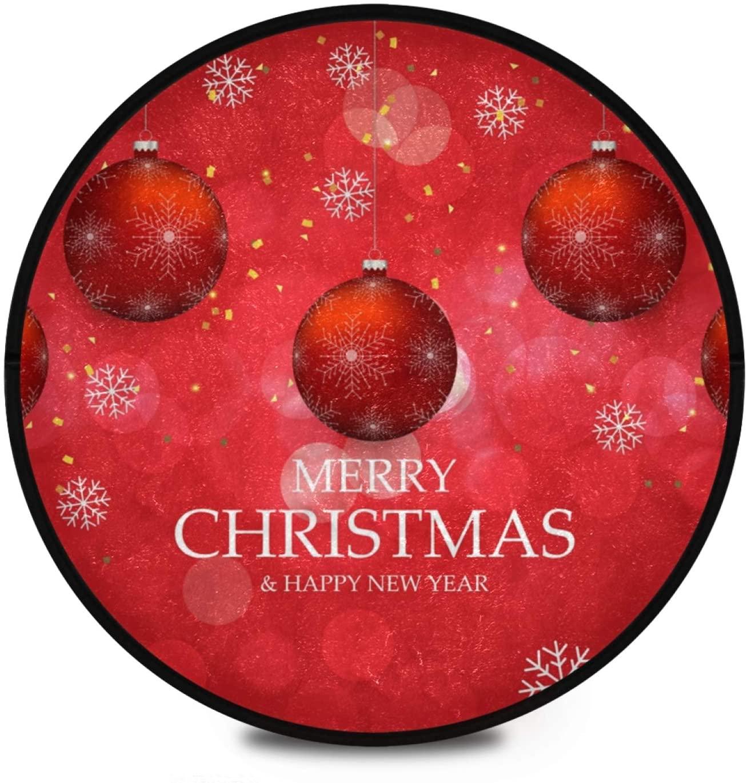 Merry Christmas Snowflake Round Area Rug Non Slip Round Rug Floor Mats Carpet Yoga Mat Nursery Rug Non Skid Washable for Living Dinning Room 2020424