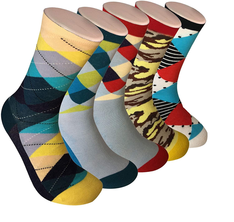 Mens Socks, Fun Socks 2 or 5 Pairs of Sox Per Gift Box