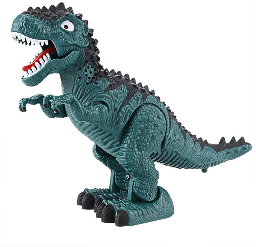 Tyrannosaurus T-Rex Dinosaur Walking Dinosaur Toys for Kids, Walking Dragon Toy Electric Roaring Tyrannosaurus Rex Dinosaur Christmas Gift (Green)