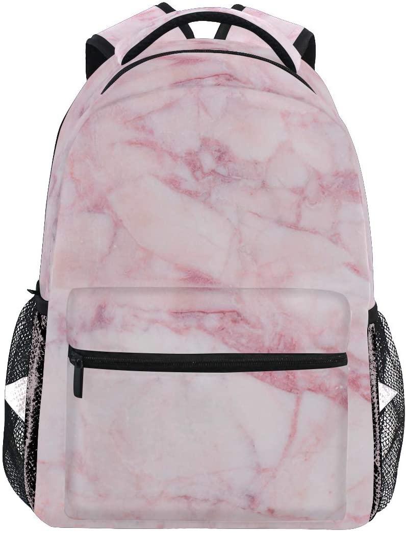 Shpink Marble Backpacks Travel Laptop Daypack School Bags for Teens Men Women