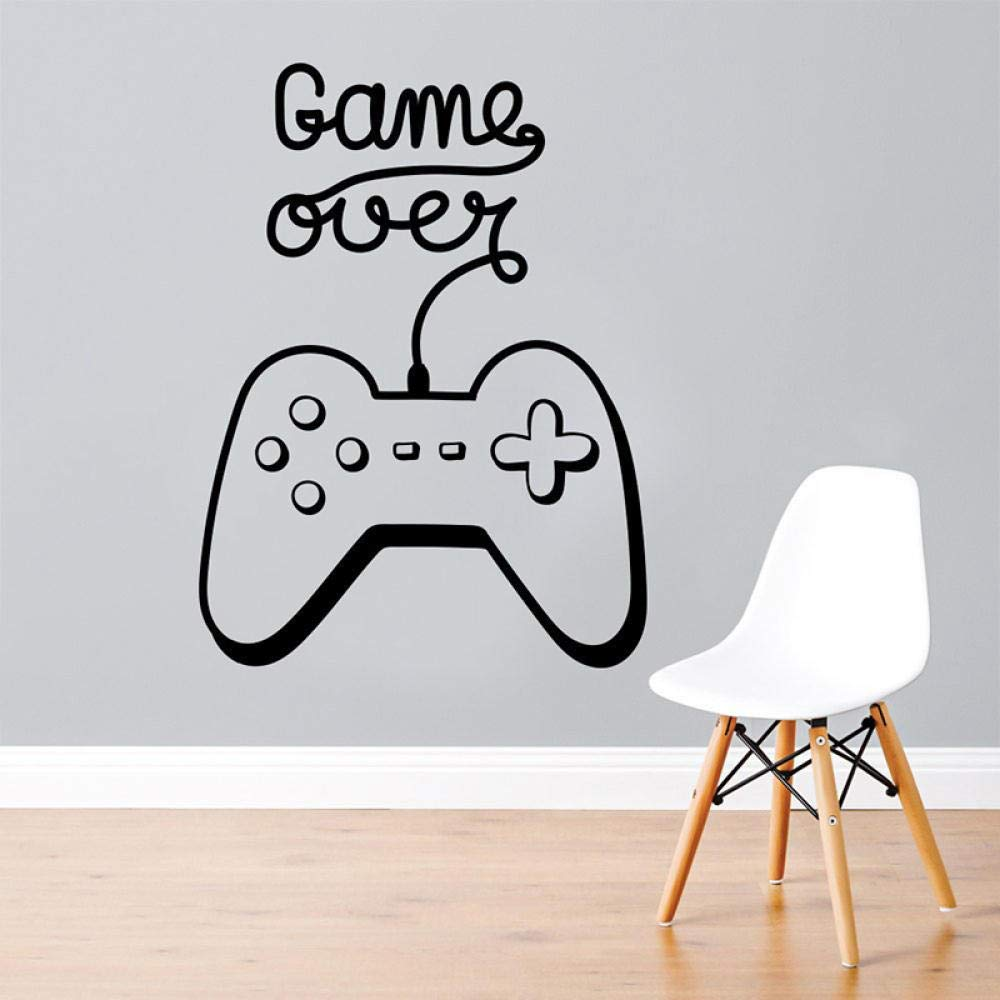 Video Game Wall Decal Game Over Decals Gamer Sticker Playstation Vinyl Sticker Game Boy Room Decor Gamer Gift Removable 42X57Cm