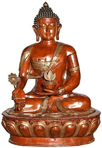 Exotic India ZDN17 Tibetan Buddhist Medicine Buddha Statue Chola