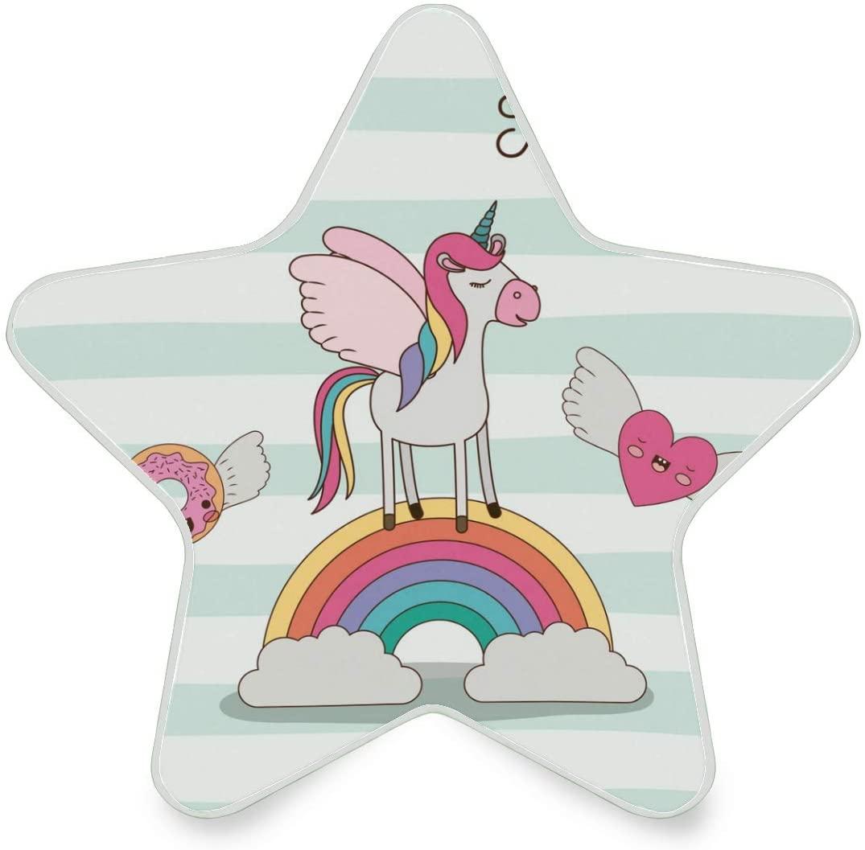 LED Night Light Star Shape Unicorn Over Rainbow Ultra-Slim, and Cool-Touch Dusk to Dawn Sensor Night Lamp Kids Adults and Nursery Decor Night Light