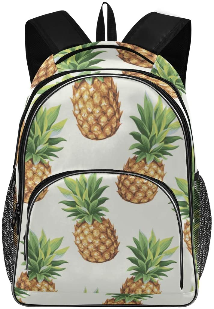 ALAZA Vintage Pineapple Tropical Fruit Business Travel Hiking Camping Rucksack Pack for Men and Women