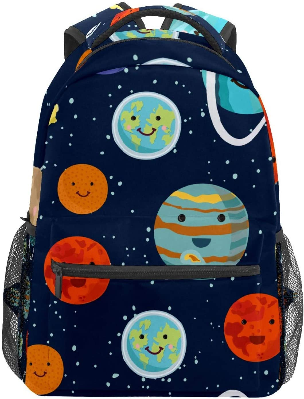 School Backpacks Universe Cute Earth Planet Cartoon Travel Laptop Small Backpack for Woman Teen Girls Boys Middle Student Book Bag