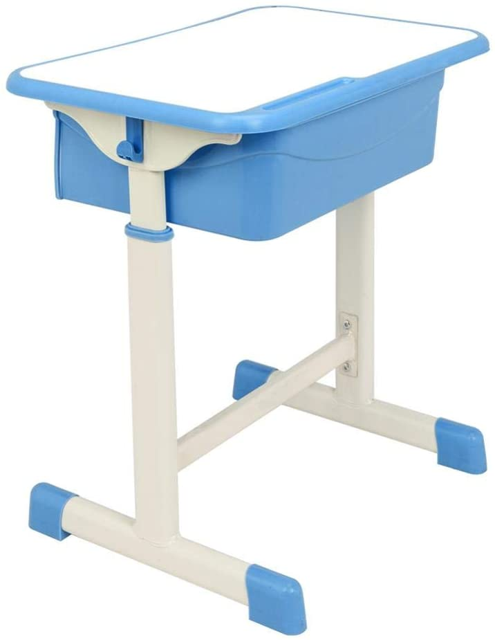 Voyoo Kids Desk Chair Table and Chairs Student Desks Junior Study for Students -Adjustable Student Desk and Chair Kit- Blue