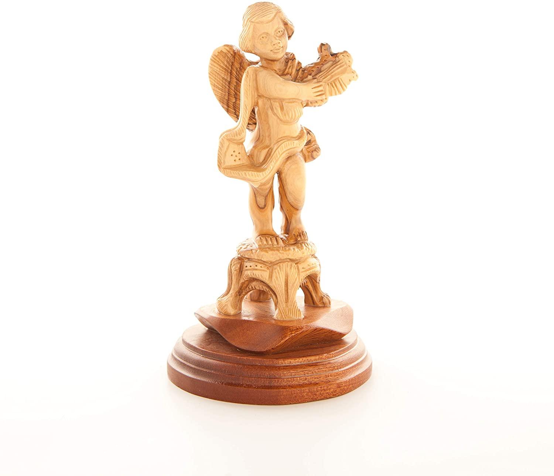 Bethlehem Handicrafts Hand Carved Wood Angel