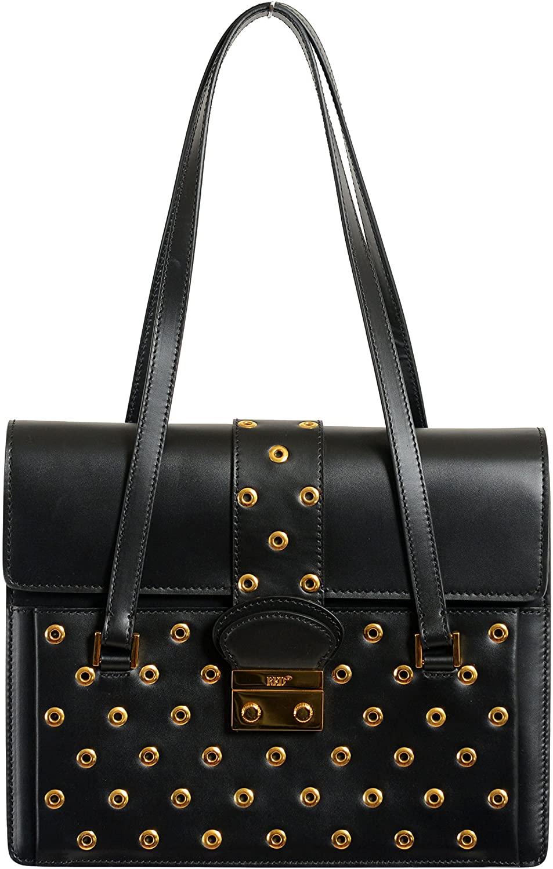 Red Valentino Leather Black Womens Handbag Shoulder Bag