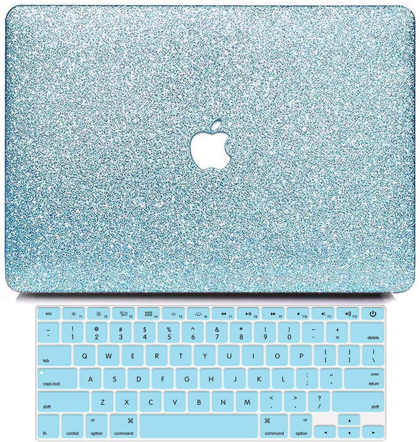 B BELK MacBook 12 Inch Case 2017 2016 2015 Release A1534, 2 in 1 Bling Crystal Smooth Ultra-Slim Light Weight PC Hard Case with Keyboard Cover for Apple Mac 12 Inch with Retina Display, Loyal Blue