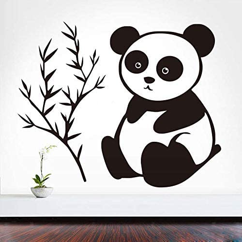 dsajgker It Only Eats Bamboo Baby Panda Wall Stickers Children's Room Detachable Vinyl Decals Cute Wall Art Home Decoration Accessories 54 44Cm