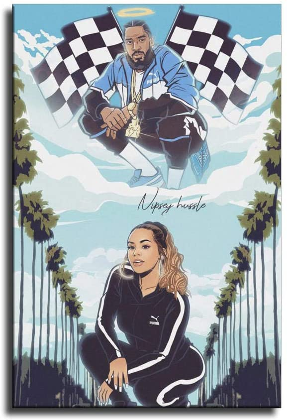 Nipsey hussle and Lauren London Art Canvas Art Poster and Wall Art Picture Print Modern Family Bedroom Decor Posters