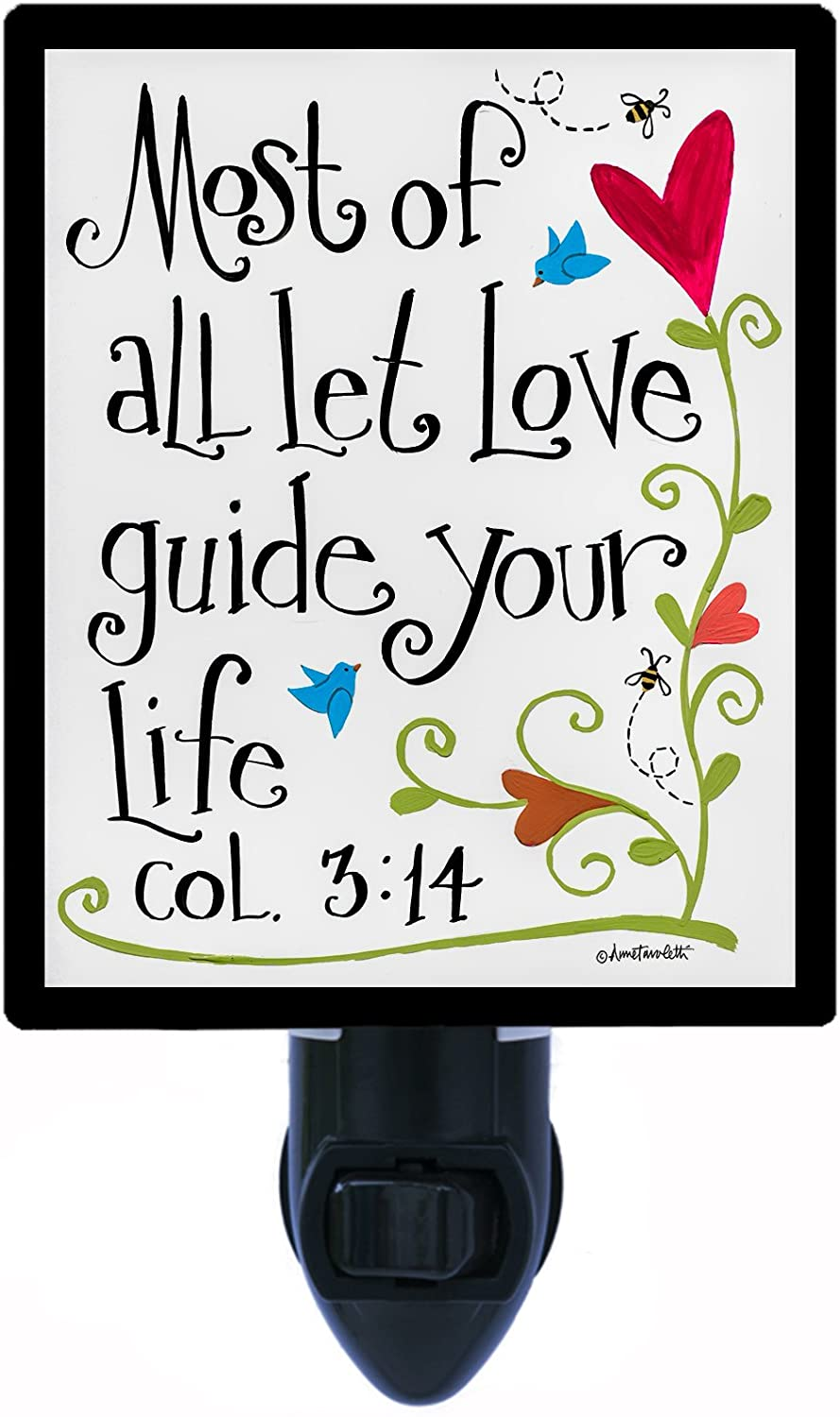 Night Light, Most of All, Religious, Colossians 3:14 LED Night Light