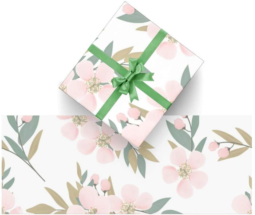 Wrapping Paper Floral Flowers for Christmas, Birthday, Valentines Day, Bridal or Baby Showers and More- 3Rolls - 58inch x 23inch Per Roll