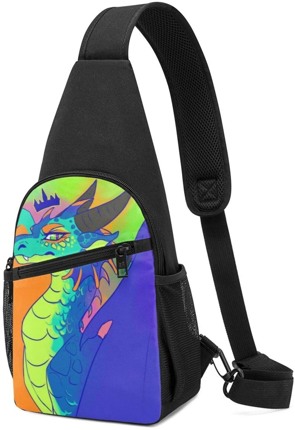 Doobey Wings of Fire Jade Winglet Chest Pack Bag Single Shoulder Chest Bag for Outdoor Travel Hiking Sports Casual Bag for Men & Women