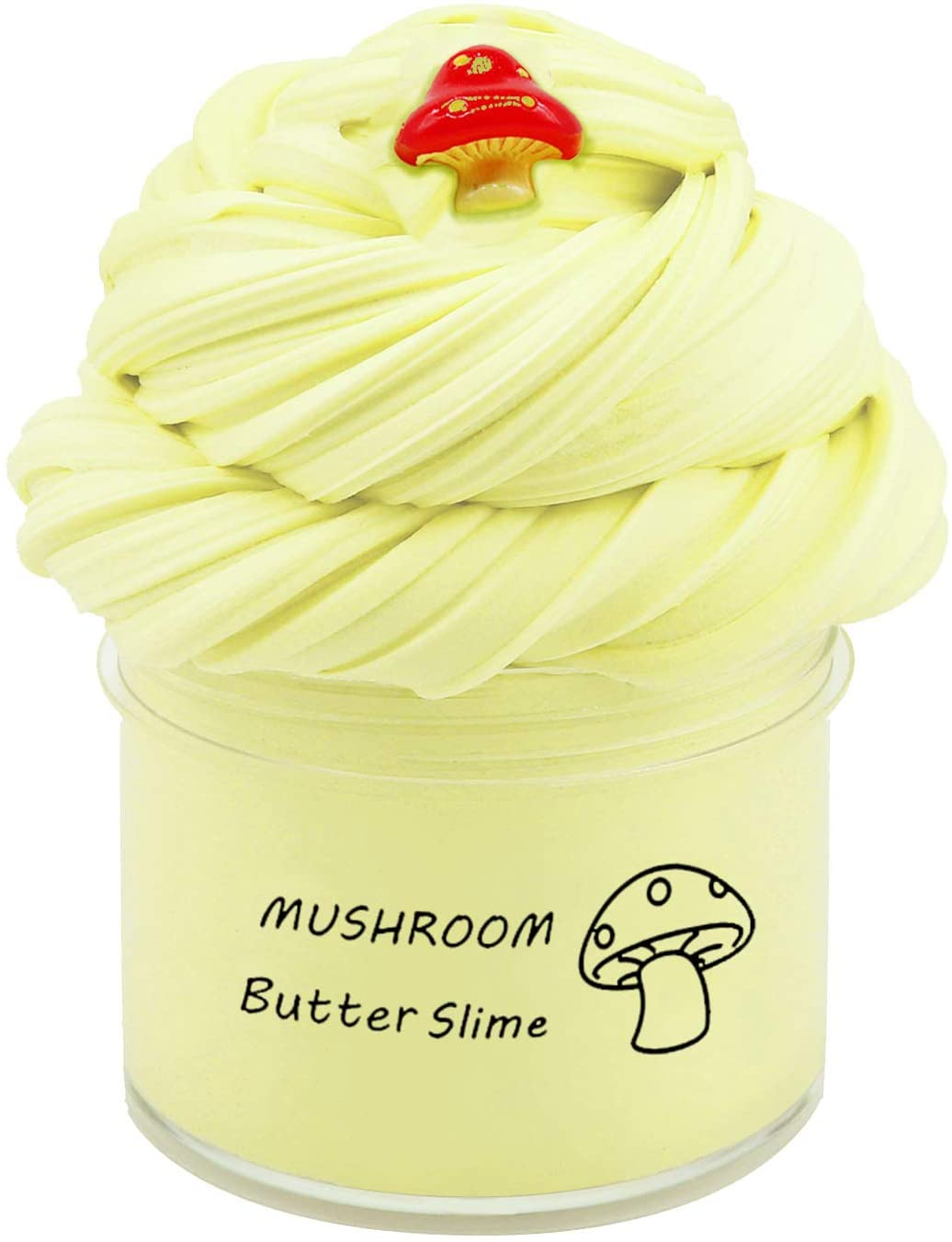 JXSLED Newest Mushroom Butter Slime, Non-Sticky Floam Slime Stress Relief Toy Scented DIY Sludge Toy for Girl and Boy(7oz) 200ML