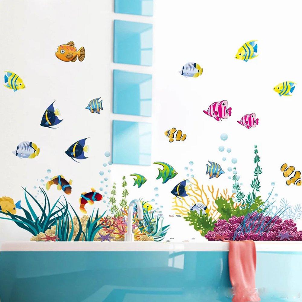 Animal Wall Sticker Fun Animals for Kids Rooms Removable Wall Stickers Home Decor Stickers for Children's Room Nursery (Ocean)
