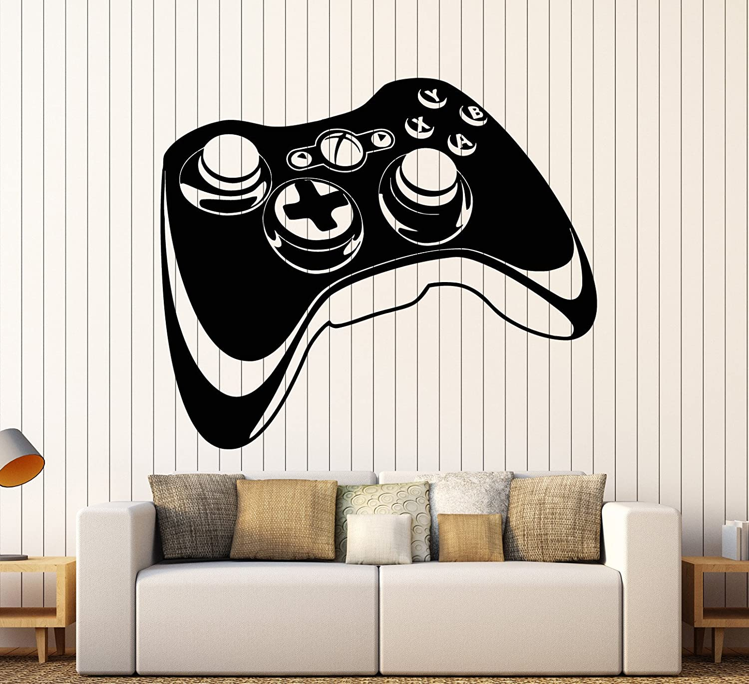 Vinyl Wall Decal Joystick Video Games Gift for Teen Gaming Stickers Large Decor (ig4000) Black