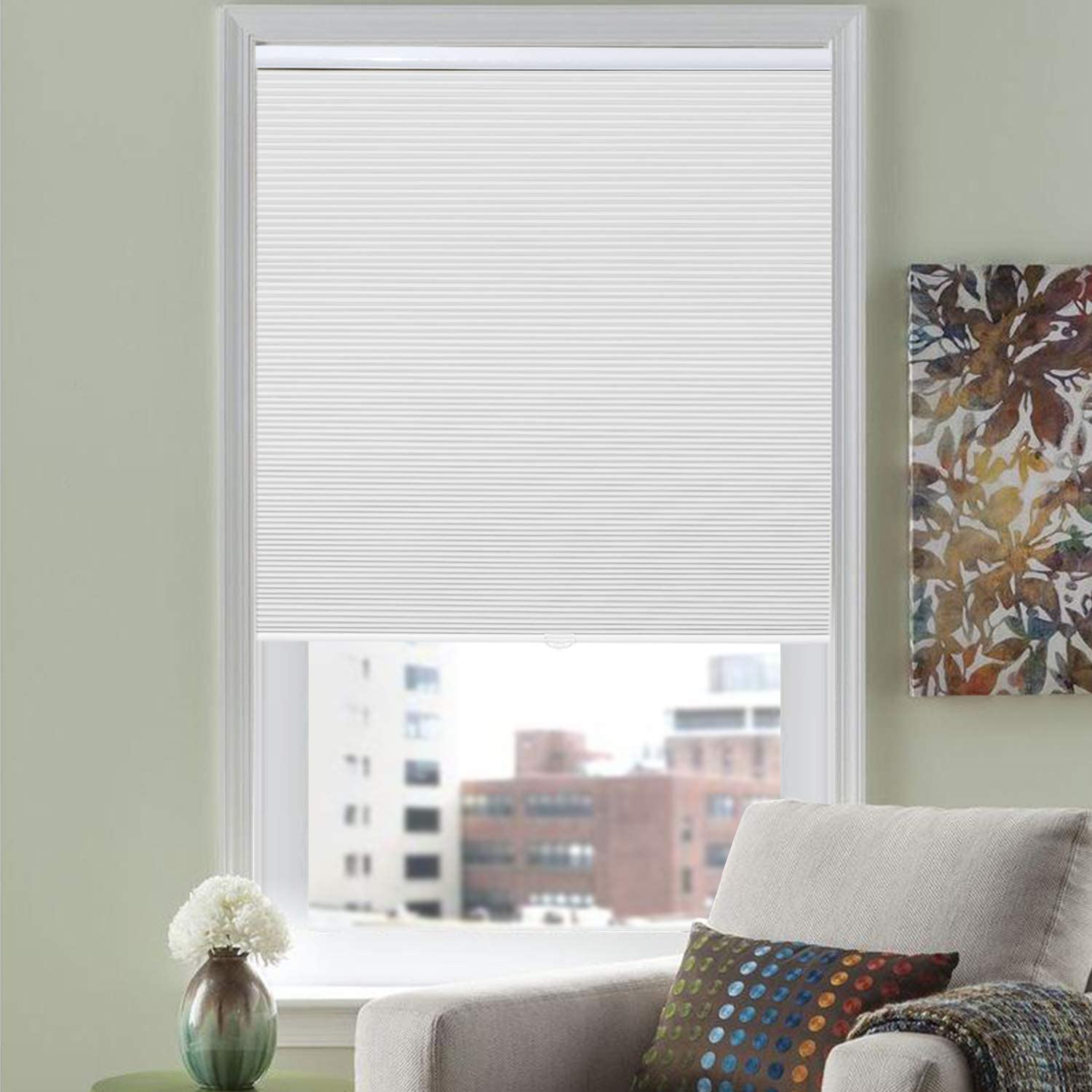 HOMEDEMO Blackout Cellular Shades Cordless Window Blinds and Room Darkening Shades, 24