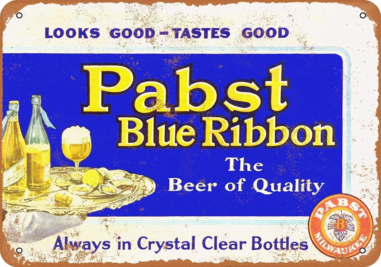 NOT Pabst Blue Ribbon Beer Tin Wall Sign Retro Metal Poster Plaque Hanging Warning Vintage Art Yard Garden Signs Band Cafe Bar Pub Stadium Cinema Store Gift