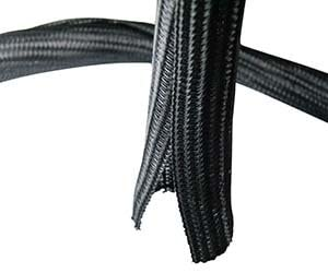 GOWOS (50-Pack) Self Closing Cable Sock Black 1