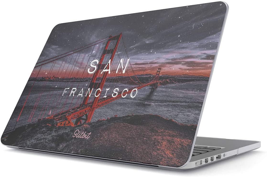 Glitbit Hard Case Cover Compatible with MacBook Air 13 inch Case Release 2018-2019 Model: A1932 / A2179 with Retina Display and Touch ID San Francisco Golden Gate Bridge SF Califronia Cali USA