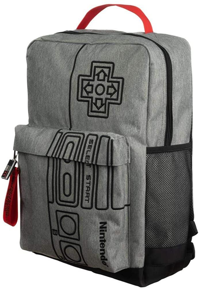 Nintendo Video Game Controller Grey Backpack