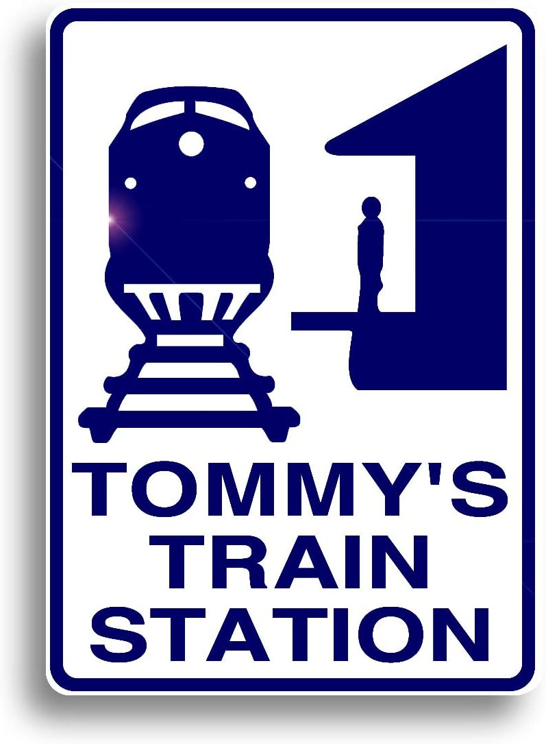 Train Station Sign, All Aboard! Personalized Railroad Decor, Custom Made, just for You, and Shipped Out Fast!