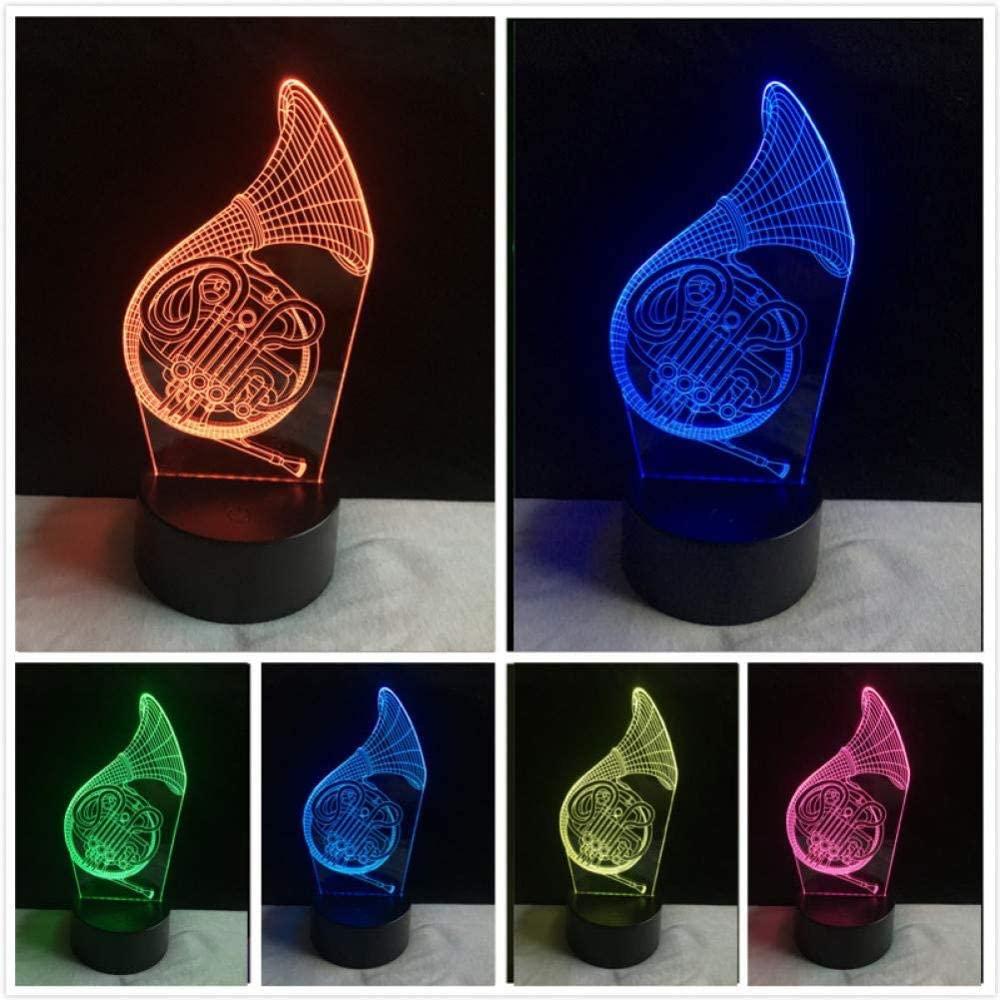 KLJLFJK Night Light LED Big Horn Bedroom Table Lamp Touch Christmas 7 Color Change Night Light Valentine s Day Birthday Gift Party Lighting