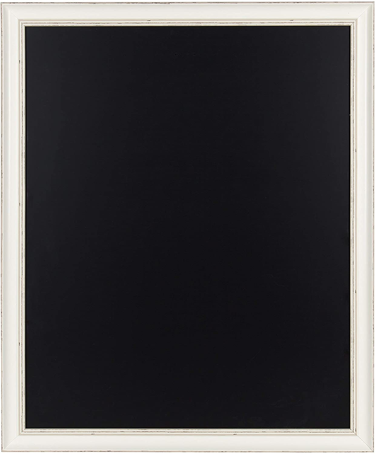 Kate and Laurel Macon Framed Magnetic Chalkboard, 27x33, Soft White