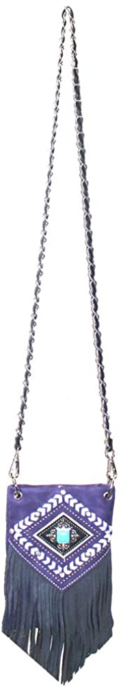Premium Embroidery Rhinestone Metal Cross Mini Messenger Bag in Multi-color