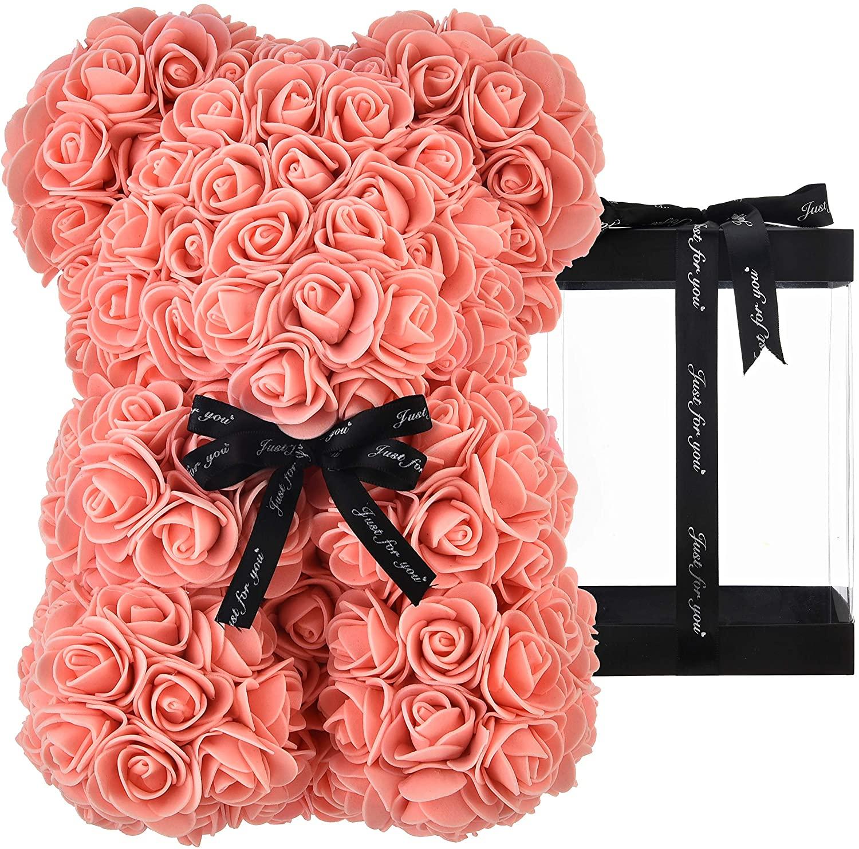 Rose Bear Peach - Rose Bears for Valentines 10