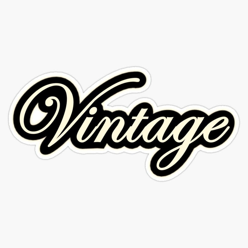 Vintage Sticker Vinyl Waterproof Sticker Decal Car Laptop Wall Window Bumper Sticker 5