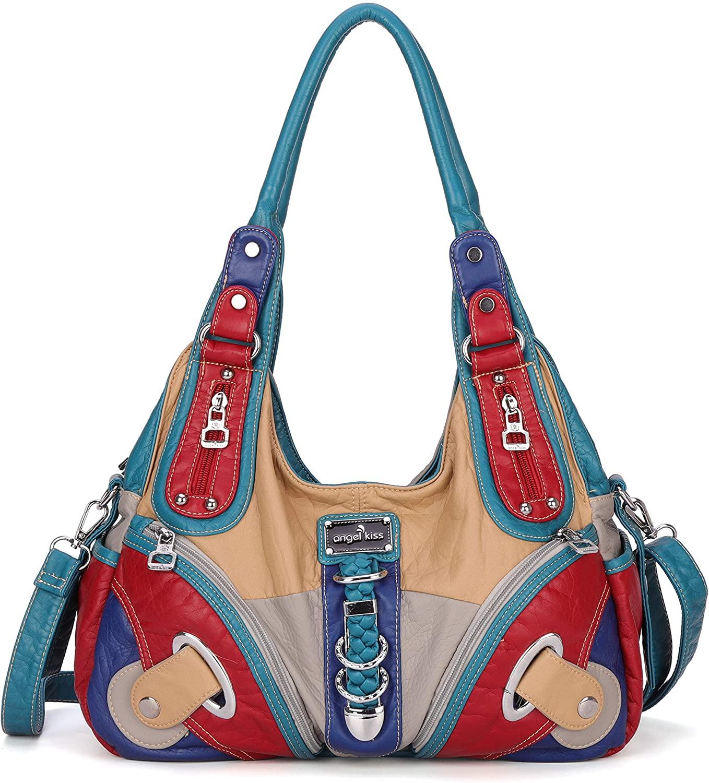 Angelkiss Hobo Purses and handbags for Women Satchel Handbag Women Purses Large Daily Shoulder Bags