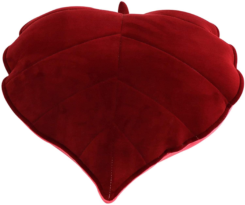 Cyprinus Carpio 3D Leaves Household Sofa Pillow Decoration… (Dark Red)