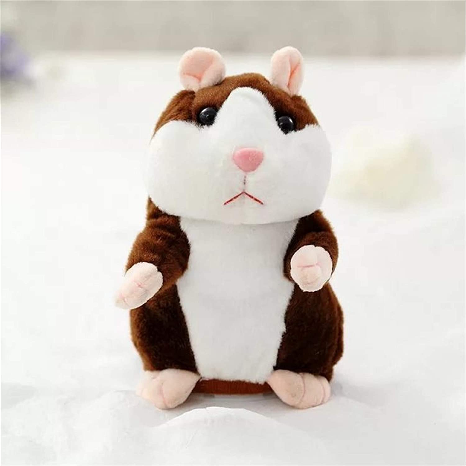 ZSDAS Upgrade Version Talking Hamster Mouse Toy - Repeats What You Say and Can Walk - Electronic Pet Talking Plush Buddy Hamster Mouse for Kids Gift Party Toys A3 16CM